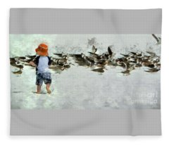 Bird Play Fleece Blanket