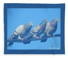 Bird Trio Fleece Blanket