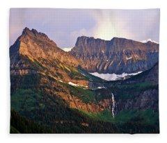 Bird Woman Falls Sunset Fleece Blanket