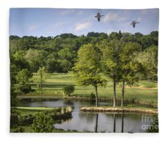 Birdie On Back Nine Fleece Blanket