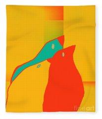 Birdies - P01p2t6 Fleece Blanket