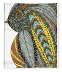 Bird_inquisitive_s007 Fleece Blanket
