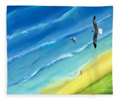 Bird's-eye Above Sea Fleece Blanket