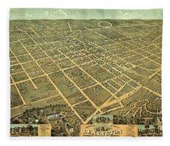 Bird's Eye View Of The City Of Lexington, Fayette County, Kentucky 1871 Fleece Blanket