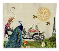 Birds Of A Feather In Paris, France Fleece Blanket