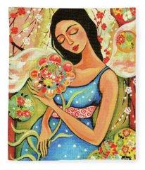Birth Flower Fleece Blanket