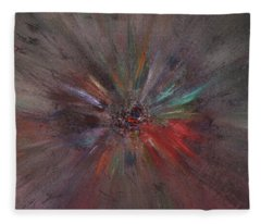 Fleece Blanket featuring the painting Birth Of A Soul by Michael Lucarelli