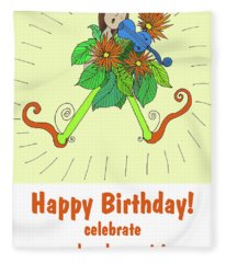 Birthday Violin Girl Fleece Blanket