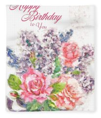 Birthday Wishes Fleece Blanket