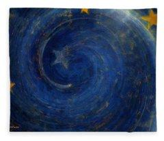 Birthed In Stars Fleece Blanket