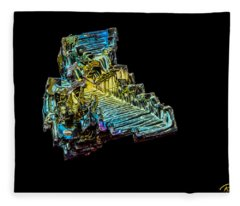 Bismuth Crystal Fleece Blanket