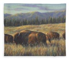 Bison Bliss Fleece Blanket