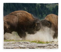 Bison Duel Fleece Blanket