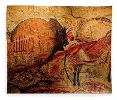 Bisons Horses And Other Animals Closer Fleece Blanket