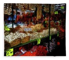 Biward Market Garlic Fleece Blanket