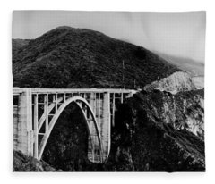 Bixby Bridge - Big Sur - California Fleece Blanket