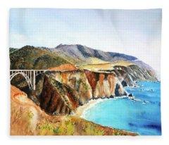 Bixby Bridge Big Sur Coast California Fleece Blanket