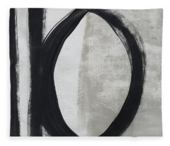 Black And White Abstract 1- Art By Linda Woods Fleece Blanket