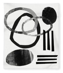 Black And White- Abstract Art Fleece Blanket