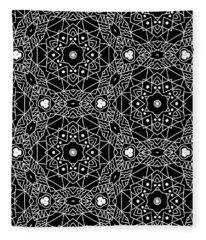 Black And White Boho Pattern 3- Art By Linda Woods Fleece Blanket