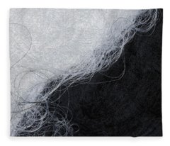 Black And White Fibers - Yin And Yang Fleece Blanket