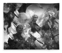 Black And White Games Of Thrones Another Story Fleece Blanket