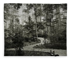 Black And White Vintage Edit -walk In Peace  Fleece Blanket