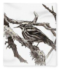 Black-and-white Warbler Fleece Blanket