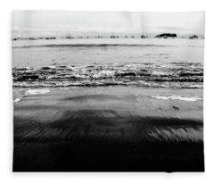 Black Beach  Fleece Blanket