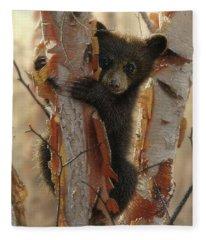 Black Bear Cub - Curious Cub II Fleece Blanket