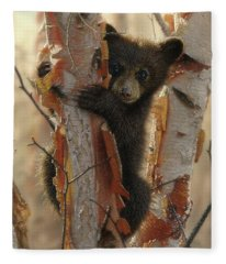 Black Bear Cub - Curious Cub II Fleece Blanket