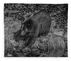 Black Bear Salmon Seeker Fleece Blanket