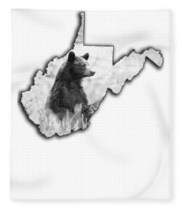 Black Bear Standing Fleece Blanket