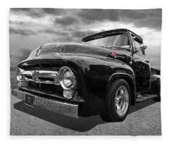 Black Beauty - 1956 Ford F100 Fleece Blanket