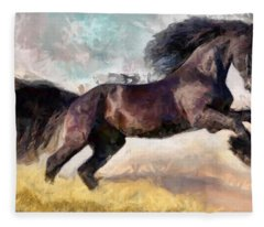 Black Beauty Fleece Blanket
