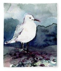 Black-billed Gull Fleece Blanket
