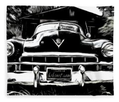 Black Cadillac Fleece Blanket