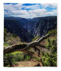 Black Canyon Of The Gunnison First Look Fleece Blanket