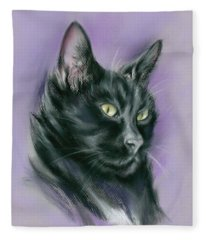 Black Cat Sith Fleece Blanket