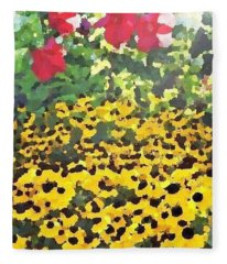 Black-eyed Susans - Flowers Of Bethany Beach Fleece Blanket
