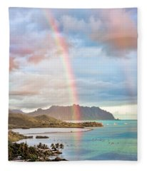 Black Friday Rainbow Fleece Blanket