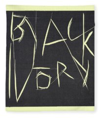 Black Ivory Title Page Fleece Blanket