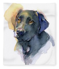 Black Lab Fleece Blanket
