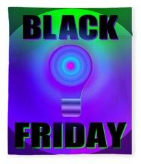 Black Light Friday Fleece Blanket
