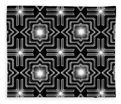 Black Night Lights Fleece Blanket