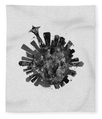 Black Skyround Art Of Seattle, Washington Fleece Blanket