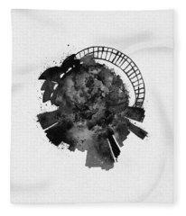 Black Skyround Art Of Sydney, Australia Fleece Blanket