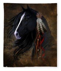 Black Stallion  Fleece Blanket