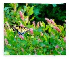 Black Swallowtail Fleece Blanket