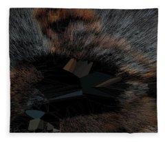 Black T-shirt Thinker Warp Fleece Blanket